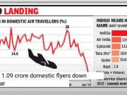 Domestic air traffic falls for first time in almost 5 years