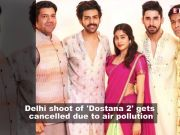 Dostana 2: Delhi shoot of Kartik Aaryan, Janhvi Kapoor-starrer gets called off due to air pollution