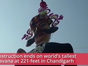 Dussehra 2019: Construction ends on world's tallest Ravana at 221-feet