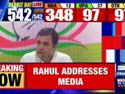 Election Results : Rahul Gandhi congratulates PM Narendra Modi, BJP and Smriti Irani at Congress headquarters