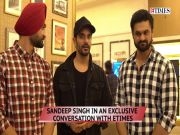 Exclusive! Diljit Dosanjh gets a pat on back from real life 'Soorma' Sandeep Singh