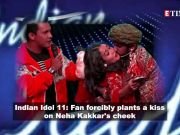 Fan forcibly kisses singer Neha Kakkar on sets of 'Indian Idol 11'