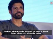 Farhan Akhtar trolled for urging Bhopal to vote a week after the city already voted