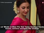 Fire at 'Bhabi Ji Ghar Par Hain' actress Saumya Tandon's house