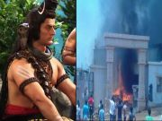 Fire on Devon Ke Dev Mahadev set
