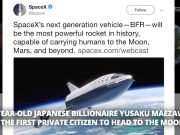 First private citizen to head to the Moon on SpaceX flight