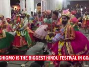 Folk dancers perform 'Ghode Modni' during Shigmo festival in Goa
