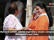 From Sonu Nigam to Gulzar, bevy of stars attend the last rites of legendary music composer Mohammed Zahur 'Khayyam' Hashmi