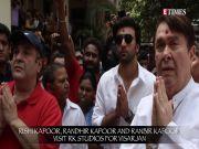 Ganpati Visarjan 2018: Ranbir Kapoor, Rishi Kapoor and Randhir Kapoor visit RK Studios