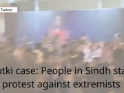 Ghotki case: People in Sindh stage protest against extremists