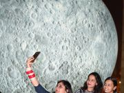 Giant replica of moon attracts visitors in Delhi