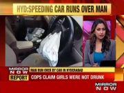 Girl runs car over man in Hyderabad's Kushaiguda