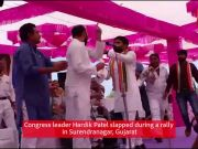 Gujarat: Congress leader Hardik Patel slapped during public meeting in Surendranagar