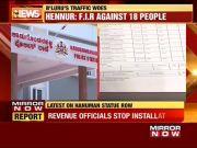 Hanuman statue row: 18 people including BJP leader booked