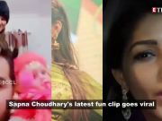 Haryanvi singer Sapna Choudhary's latest fun clip will tickle your funny bones