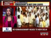 HD Kumaraswamy to meet Sonia and Rahul in Delhi