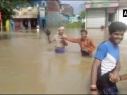 Heavy rain leads to water logging in Madhya Pradesh's Raisen district