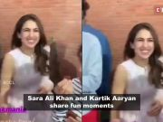 Here's how Sara Ali Khan made Kartik Aaryan blush in public; Deepika Padukone's first look in 'Chhapaak' out, and more…