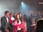 Hillary Clinton shakes a leg with Shah Rukh Khan at Isha Ambani's pre-wedding bash