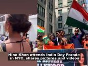 Hina Khan stuns in saree, waves tricolour at the Independence Day parade in New York