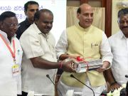 Home minister Rajnath Singh praised for writing twitter display name in Kannada