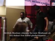 Hrithik Roshan cheers for son Hrehaan for his rock band's debut performance
