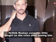 Hrithik Roshan comforts young fan who cried after seeing her favorite actor