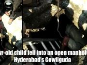 Hyderabad: 4-yr-old falls into open manhole, saved by fire rescue team