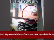 Hyderabad: 6-year-old dies after concrete bench falls over him