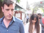 Ileana D'Cruz gets emotional as she bids adieu to hubby Andrew Kneebone at airport