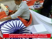 Independence Day: Artisans make National flag at a workshop in Mumbai's Mahalaxmi