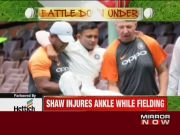 India vs Australia: Prithvi Shaw suffers ankle injury in practice match