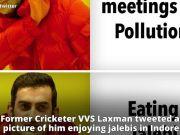 Internet trolls Gautam Gambhir for jalebis instead of attending pollution meet in Delhi