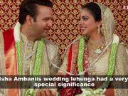 Isha Ambani's dupatta a cut out of mother Nita Ambani's 35-year-old wedding saree