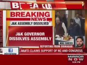 J&K governor dissolves assembly, as rivals Mehbooba, Sajad stake claim to govt formation in J&K