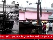 Jabalpur: Cops parade gamblers with slippers on head