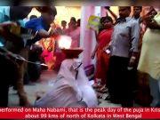 Jagaddhatri Puja: Woman holds burning earthen pots to offer prayers