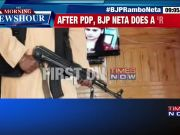 Jammu and Kashmir: BJP leader Ashish Sareen brandishes AK-47
