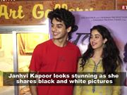 Janhvi Kapoor gives major classic vibes in new monochrome pictures