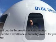 Jeff Bezos to receive 2019 IAF Excellence in Industry Award