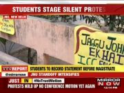 JNU students hold silent protest against professor accused of sexual harassment