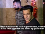 Journalist files complaint against Salman Khan for snatching his phone