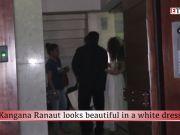 Kangana Ranaut looks beautiful in a white dress