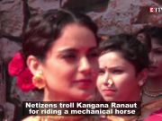Kangana Ranaut viciously trolled for riding mechanical horse in 'Manikarnika: The Queen of Jhansi'