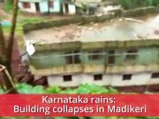 Karnataka rains: Building collapse caught on cam