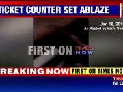 Karni Sena sets ticket counter of Faridabad theatre on fire, posts video on social media