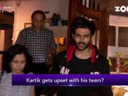 Kartik Aryan upset with his team!