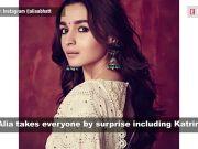 Katrina Kaif is all praises about Alia Bhatt's performance in 'Ghar More Pardesiya'