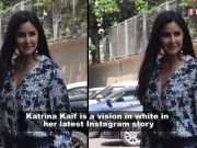 Katrina Kaif looks stunning in this shimmery white thigh-high slit dress!