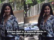 Katrina Kaif looks stunning in this shimmery white thigh-high slit dress!